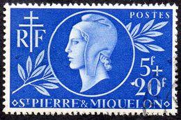 Détail De La Série Entraide Française Obl. Saint Pierre Et Miquelon N° 314 - Marianne De Dulac - 1944 Entraide Française