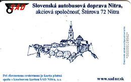 Slovaquie, SAD - Transport En Bus Nitra, Electronic Card Nr.000109562 - Moteurs