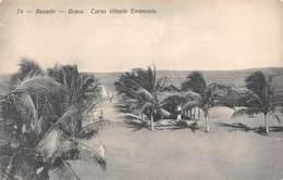 "M08209 ""BENADIR-BRAVA-CORSO VITTORIO EMANUELE "" CART. ORIG. NON SPED. - Libia"