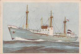 KROONENBORG , NED KUSTVAARDER DELFZIJL Captain Grant Shag Chromo - Cigarette Cards