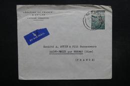 CEYLAN - Enveloppe De La Légation De La France à Colombo Pour La France  , Affranchissement Plaisant - L 32061 - Sri Lanka (Ceylan) (1948-...)