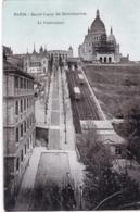 75 - PARIS 18 - PARIS - La Basilique Du Sacre Coeur De Montmartre -  Funiculaire  - Travaux Sur La Basilique - District 18