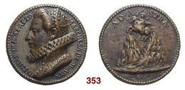 1616 MONTAPERTO   Agrigento; ELISABETTA VALGUARNERA NISCEMI - BRONZO GR. 46,76 - Monarchia/ Nobiltà