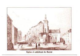 DORDOGNE - Dépt N° 24 = SARLAT = CP / REPRO  Gravure Ancienne GUIENNE 1844 = EGLISE Et CATHEDRALE - Sarlat La Caneda