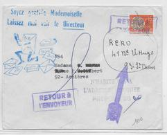 RETOUR à L'ENVOYEUR - 1967 - ENVELOPPE Avec PREOBLITERE De ST OUEN => ASNIERES - Marcophilie (Lettres)