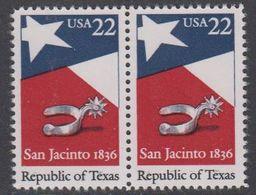 USA 1986 Republic Of Texas 1v (pair) ** Mnh (43118A) - Verenigde Staten