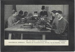 CPA Machine à écrire Circulé Typewriter Paris Aveugles - Industry