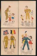 7 HUMOR  KAARTEN   2 AFBEELDINGEN - Guerre 1939-45