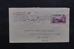 GIBRALTAR - Enveloppe Commerciale Pour La France En 1956 , Affranchissement Plaisant - L 32069 - Gibilterra