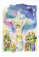 Mostra Filatelica Pasqua 2019 I Misteri La Ferita Al Costato Trapani - Gesù
