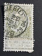 COB N ° 59 Oblitération Gand (Boucherie) 1904 - 1893-1900 Fine Barbe