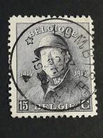 COB N ° 169 Oblitération Relais Lombise 1920 - 1919-1920 Roi Casqué