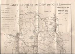 CARTE ROUTIERE DU CHER -  1908 - - Technical Plans