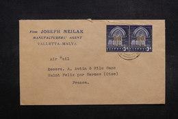 MALTE - Enveloppe Commerciale De Valletta Pour La France  , Affranchissement Plaisant - L 32071 - Malta (...-1964)