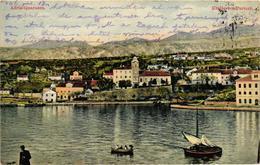 Croatia, Kraljevica, Kraljevica-Portoré, Adria-Quarnero, View, Old Postcard - Croatia