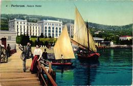 Slovenia, Portorose,Portoroz,Palace Hotel, Old Postcard - Slovenia