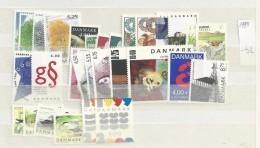 1999 MNH Denmark, Dänemark, Year Complete, Excluding Blocks, Postfris - Danimarca
