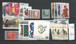 1998 MNH Denmark, Dänemark, Year Complete, Excluding Blocks, Postfris - Danimarca