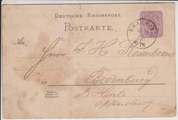 Germany Empire Around 1880 Cover/postcard/rapper (Germany-3) - Deutschland