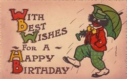 Golliwog Happy Birthday , 1910s - Birthday