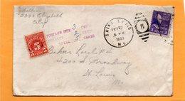 United States 1939 Cover Mailed Postage Due - Etats-Unis