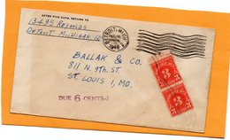 United States 1946 Cover Mailed Postage Due - United States
