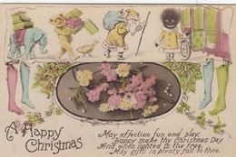Santa Claus , Golliwog , Teddy Bear & Elephant Toy , A Happy Christmas , 00-10s - Santa Claus