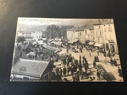 5516 - LAMASTRE La Place Du Marché - 1926 Timbrée - Lamastre