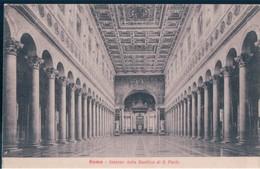 POSTAL ROMA - INTERNO DELLA BASILICA DI S PAOLO - STA 6 - Iglesias