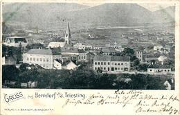 Austria, Berndorf, Berndorf A/d Triesting, Niederösterreich, View, 1900, Old Postcard - Other
