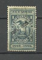 ECUADOR 1887/1888 Revenue Tax Stamp 1 C. O - Equateur