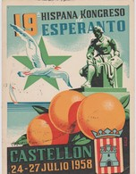 AKEO Card About 19th Spanish Esperanto Conference In Castellón 1958 - Hispana Esperanto Kongreso - Esperanto