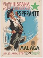 AKEO Card About 20th Spanish Esperanto Conference In Málaga 1959 - Hispana Esperanto Kongreso - Esperanto