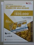 PORTUGAL - CARTAZ LOTARIA CLASSICA FORMATO A4 -  DOBRA AO MEIO -   2 SCANS  - Nº 3 - (Nº29300) - Lottery Tickets
