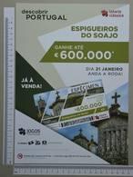 PORTUGAL - CARTAZ LOTARIA CLASSICA FORMATO A4 -  DOBRA AO MEIO -   2 SCANS  - Nº 4 - (Nº29301) - Lottery Tickets