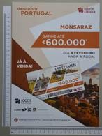 PORTUGAL - CARTAZ LOTARIA CLASSICA FORMATO A4 -  DOBRA AO MEIO -   2 SCANS  - Nº 6 - (Nº29303) - Lottery Tickets