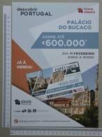 PORTUGAL - CARTAZ LOTARIA CLASSICA FORMATO A4 -  DOBRA AO MEIO -   2 SCANS  - Nº 7 - (Nº29304) - Lottery Tickets