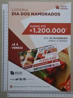 PORTUGAL - CARTAZ LOTARIA CLASSICA FORMATO A4 -  DOBRA AO MEIO -   2 SCANS  - Nº 8 - (Nº29305) - Lottery Tickets