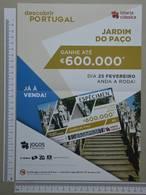 PORTUGAL - CARTAZ LOTARIA CLASSICA FORMATO A4 -  DOBRA AO MEIO -   2 SCANS  - Nº 9 - (Nº29306) - Lottery Tickets