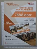 PORTUGAL - CARTAZ LOTARIA CLASSICA FORMATO A4 -  DOBRA AO MEIO -   2 SCANS  - Nº 14 - (Nº29308) - Lottery Tickets