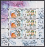 Russia 12.04.2001 Mi # 908-09 Kleinbogen, 40th Anniversary Of The First Human Flight Into The Outer Space MNH OG - Blocs & Hojas