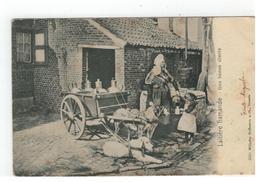 Laitière Flamande  Melkkar Met Honden Une Bonne Cliente 1906  Wilhelm Hoffmann 4550 A-G Dresde - Folklore