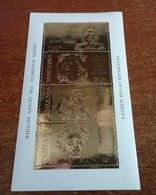 Tanzania 85th Anniversary  Queen Mother  1985  22K Gold Foil S/S MNH - Tanzania (1964-...)