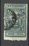 ECUADOR 1887/1888 Revenue Tax Stamp 1 C. O - Ecuador