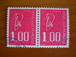 France Obl Paire N° 1892 - 1971-76 Marianne Of Béquet