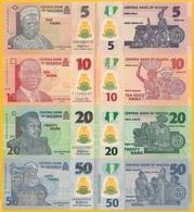 Nigeria Set Of 4 Banknotes: 5, 10, 20, 50 Naira 2016-2018 UNC Polymer - Nigeria