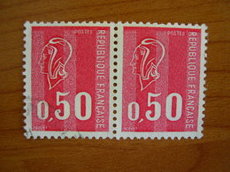 France Obl Paire N° 1664 - 1971-76 Marianne Of Béquet