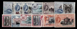 (026) Sierra Leone  Postal Services Overprints / 1963  ** / Mnh  Michel 238-250 - Sierra Leone (1961-...)