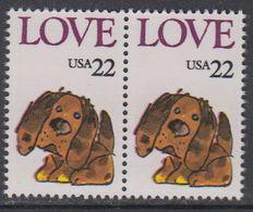 USA 1986 Love / Dog 1v (pair) ** Mnh (43118C) - Verenigde Staten