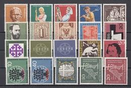 (005) Germany-BRD 1954-1960 - 20 Unbenutzte Briefmarken ** MNH - Michel-Nr. Siehe Beschreibung - BRD